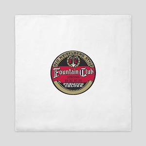 Fountain Club beer label Queen Duvet