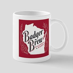 Badger Brew Beer Label Mugs