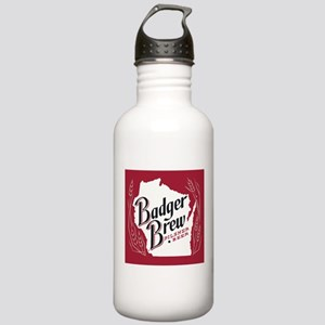 Badger Brew Beer Label Stainless Water Bottle 1.0L