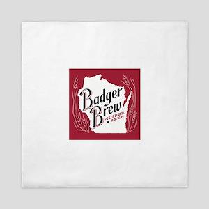 Badger Brew Beer Label Queen Duvet