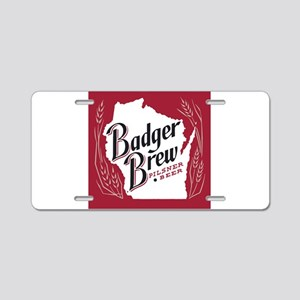 Badger Brew Beer Label Aluminum License Plate