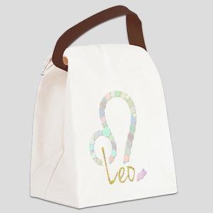 Leo (Zodiac symbol: Lion) (Candie Canvas Lunch Bag
