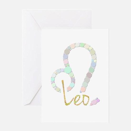 Leo (Zodiac symbol: Lion) (Candies) Greeting Cards