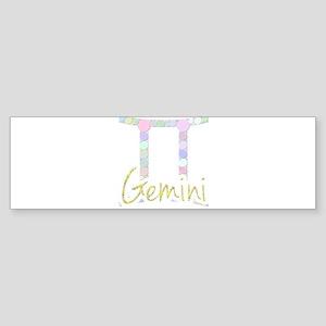 Gemini (Zodiac symbol: Twins) (Cand Bumper Sticker