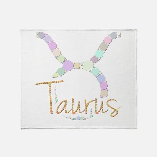 Taurus (Zodiac symbol: Bull) (Candie Throw Blanket
