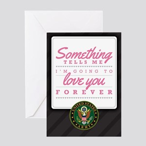 Army Love You Forever Greeting Card