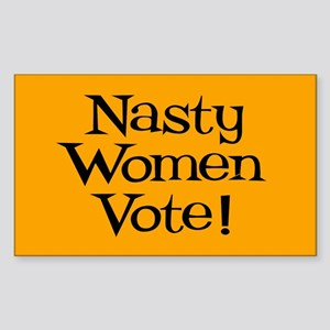 Nasty Women Vote Sticker (rectangle)