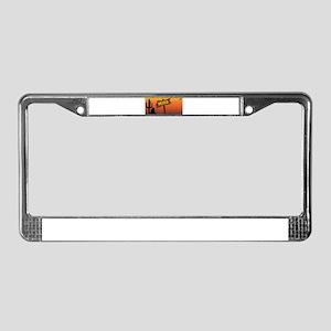Mexico Border Sign License Plate Frame