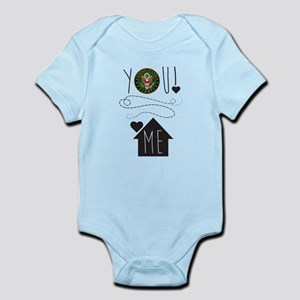 Army You Love Me Infant Bodysuit
