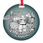 Vancouver Inukshuk Souvenir Round Ornament