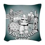 Vancouver Inukshuk Souvenir Woven Throw Pillow