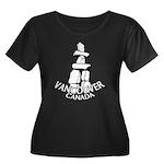 Vancouver Inukshuk Souvenir Plus Size T-Shirt