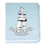 Vancouver Inukshuk Souvenir baby blanket