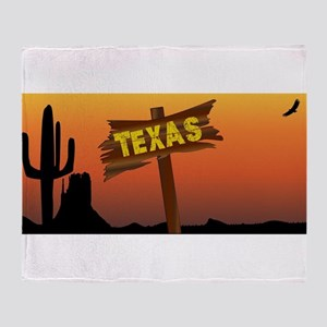 Texas Border Sign Throw Blanket