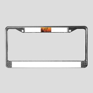 Texas Border Sign License Plate Frame