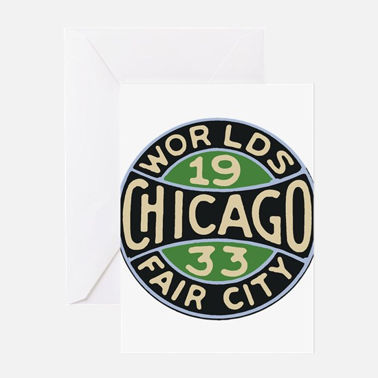 1933 Chicago World's Fair design lo Greeting Cards