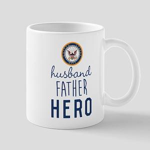 Navy Husband Father Hero Mug