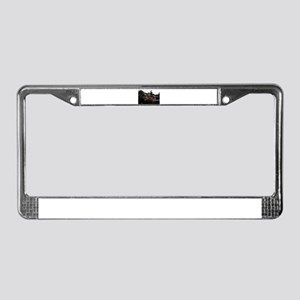 Siberian huskies in green Dodg License Plate Frame