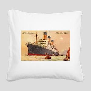 Majestic steamship historic p Square Canvas Pillow