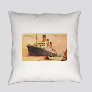 Majestic steamship historic postca Everyday Pillow