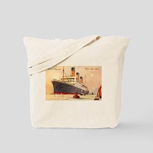 Majestic steamship historic postcard Tote Bag