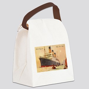 Majestic steamship historic postc Canvas Lunch Bag