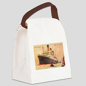 Majestic steamship historic postc Canvas Lunch Bag