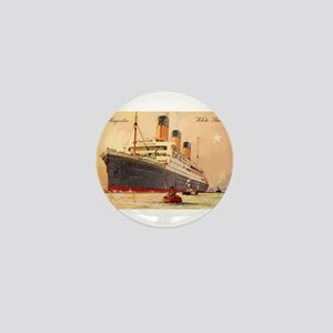 Majestic steamship historic postcard Mini Button