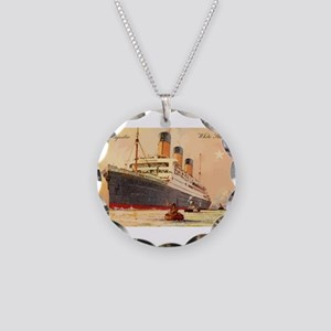 Majestic steamship historic Necklace Circle Charm
