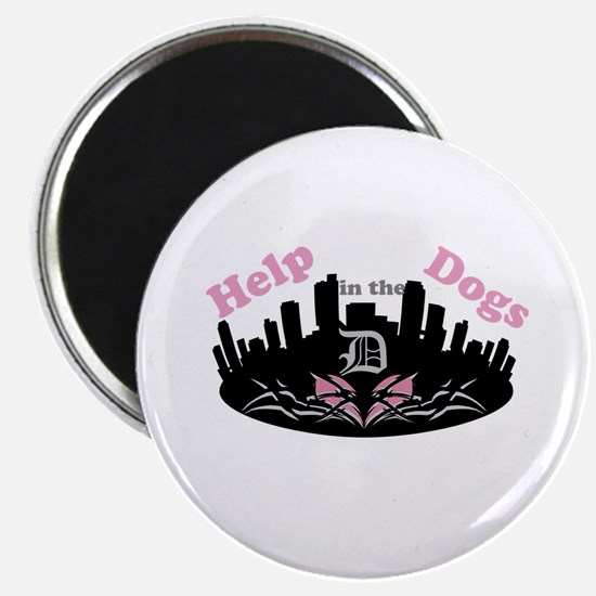 Help Dogs in the D- Pink Magnets