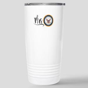 Mrs. Navy Stainless Steel Travel Mug