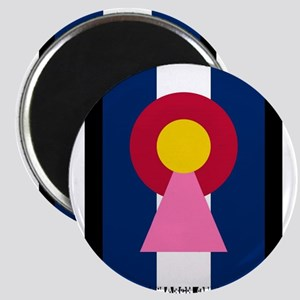 Colorado Woman Logo (Stars) Magnets