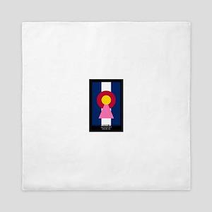 Colorado Woman Logo (Stars) Queen Duvet