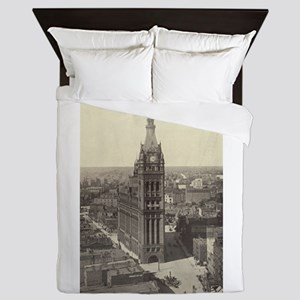Milwaukee City Hall Queen Duvet