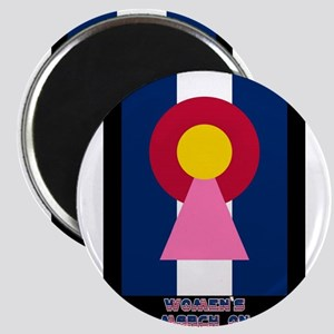 Colorado Woman Logo (Stripes) Magnets