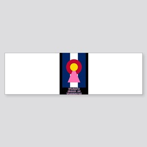 Colorado Woman Logo (Stripes) Bumper Sticker