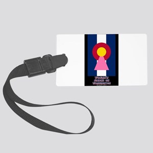 Colorado Woman Logo (Stripes) Luggage Tag