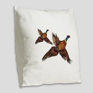 BEAUTY Burlap Throw Pillow