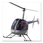 Helicopter Gifts Cool Chopper Shirts Square Car Ma