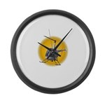 Helicopter Flying Aviator Large Wall Clock