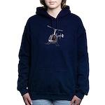 Helicopter Flying Aviato Women's Hooded Sweatshirt