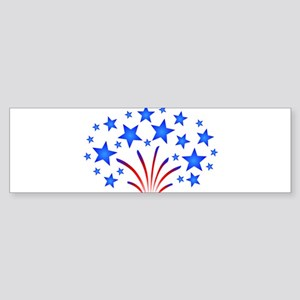 Stars & Stripes 4th of July Sticker (Bumper)