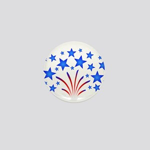 Stars & Stripes 4th of July Mini Button
