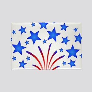 Stars & Stripes 4th of July Rectangle Magnet