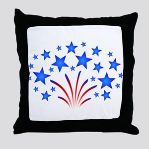 Stars & Stripes 4th of July Throw Pillow