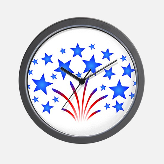 Stars & Stripes 4th of July Wall Clock