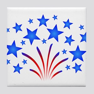 Stars & Stripes 4th of July Tile Coaster