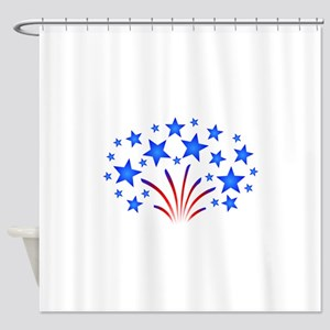 Stars & Stripes 4th of July Shower Curtain