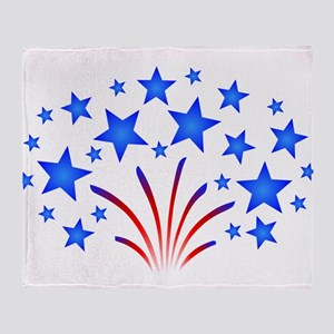 Stars & Stripes 4th of July Throw Blanket