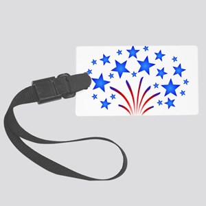 Stars & Stripes 4th of July Large Luggage Tag